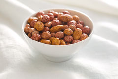 Various sugared nuts royalty free stock image