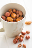 Various sugared nuts Royalty Free Stock Images