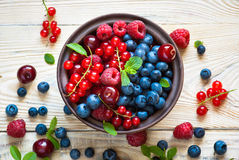 Various  summer berries Royalty Free Stock Photography