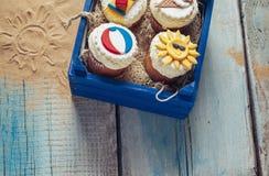 Various Summer Cupcakes Royalty Free Stock Photos