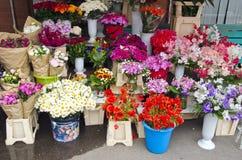 Various summer flowers market Stock Photo