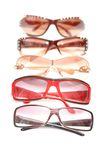 Various sunglasses isolated Royalty Free Stock Photography