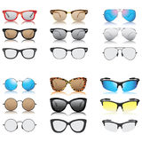Various sunglasses set  icons. Various sunglasses set icons Stock Photography