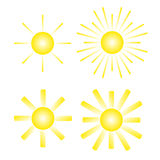 Various suns icon Stock Photos