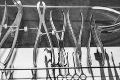 Various surgical tools Royalty Free Stock Images