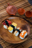 Various sushi photo on plate Royalty Free Stock Photos