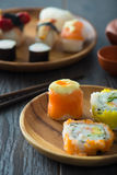 Various sushi on plate Stock Photography