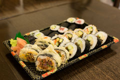 Various sushi rolls Royalty Free Stock Photos