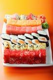 Various sushi rolls Stock Photos