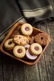 Various sweet biscuits. Royalty Free Stock Photo
