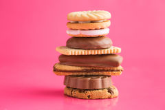 Various sweet biscuits. Stock Images