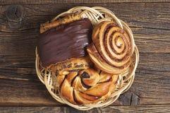 Various sweet buns Stock Photos