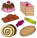 Various sweet collection Royalty Free Stock Photo