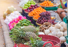 Various Sweet fruits for sale on the market Royalty Free Stock Photography