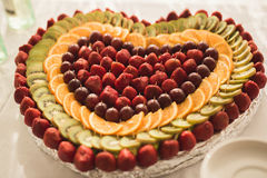 Various sweet sliced fruit on a buffet table Stock Photography