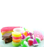 Various of sweetmeat on white background. Various of dessert on white background Royalty Free Stock Image