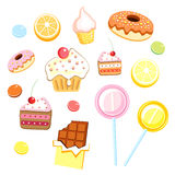 Various sweets vector illustration
