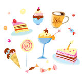 Various sweets Stock Photos