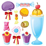 Various sweets Stock Images