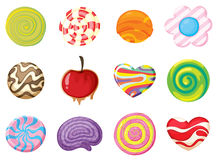 Various sweets. Illustration of various sweets on a white background Royalty Free Stock Photos