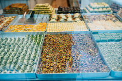 Various sweets in Istanbul Royalty Free Stock Photography