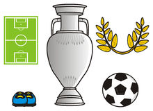 Various symbols of football Stock Photo