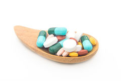 Various tablets pills for different therapy Stock Photography