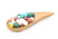 Various tablets pills for different therapy Royalty Free Stock Photography