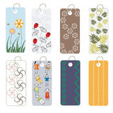 Various tags collection. 8 tags collection, label for dress Stock Photo