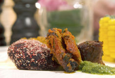 Various tandoori style meats Stock Photos