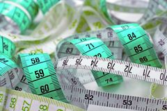 Various tape measure. As background Stock Images
