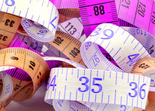 Various tape measure Royalty Free Stock Photography