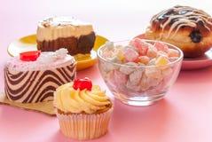 Various tasty sweet dessert Royalty Free Stock Image
