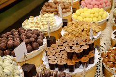 Various tasty sweets Royalty Free Stock Image