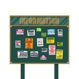 Various tear off papers ad on bulletin board Royalty Free Stock Image