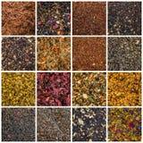 Various teas on the market Stock Image