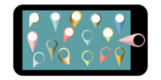 Various templates for gps navigation Royalty Free Stock Images