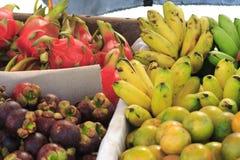 Various Thai Fruit. Float Market Thailand royalty free stock image
