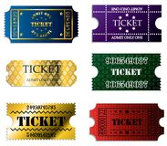 Various ticket set Royalty Free Stock Images