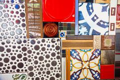 Various tile collage background royalty free stock photography