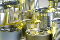 Various tin cans Royalty Free Stock Photo