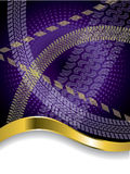 Various tire treads on purple backdrop. With gold wave Royalty Free Stock Photo