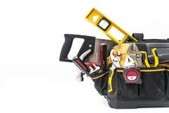 Various tools in bag royalty free stock photo