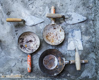 Various tools in a constrction site Royalty Free Stock Photography