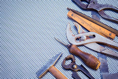 Various Tools with Copy Space Royalty Free Stock Image