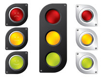 Various traffic light designs Royalty Free Stock Images