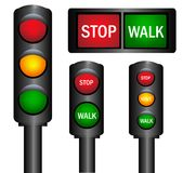 Various traffic lights Stock Photo