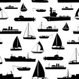 Various transportation navy ships icons seamless pattern eps10 Royalty Free Stock Images