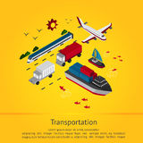 Various transportation vehicle for tourism and logistic delivery Royalty Free Stock Images