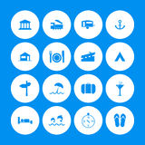 Various travel icons Royalty Free Stock Photography